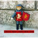 Dollhouse Castle Knight Doll (red tunic) - Light brown hair #7