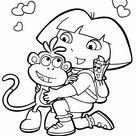 I will draw coloring book page for children