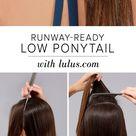 Low Ponytail With Scarf Tutorial - Lulus.com Fashion Blog