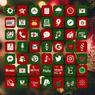 Christmas Red and Green Iphone Ios 14 App Icons Pack  Ios 14 | Etsy