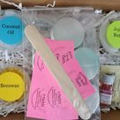 DIY Lip Balm Kit, Make Your Own All Natural Lip Balm, Party Activity, Teen and Adult Gift, Choose Your Flavor, Makes 6 Lip Balms