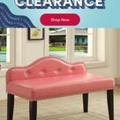 Darby Home Co Hambright Faux Leather Bench Upholstery: Pink, Bench, Leather/Solid + Manufactured Wood/Faux Leather, Size Small   Wayfair