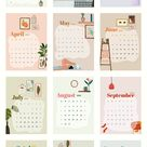 Download premium psd / image of Calendar 2021 printable template psd set hand drawn lifestyle by Wii about calendar 2021, calendar template, 12 months, 2021, and 2021 calendar 2812470