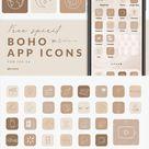 APP ICONS Free Spirit 127 ios14 Boho Aesthetic, Nude Neutral, App Covers, Icons Bundle