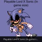 Playable Lord X Sonic (in-game size) Test