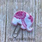 Elephant Planner Paperclip, Feltie Bookmark Gift, Planner Paper Clip, Elephant Bookmark Planner Acce