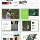 Tennis Sport PowerPoint Creative Layout Design