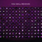140 App Icons IOS 14  Violet Neon App Covers  IOS 14 Widgets   Etsy