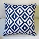 Artisan Pillows Modern Coastal Geometric Indoor/Outdoor Pillow Cover Blue 18.0 x 18.0 in   Wayfair Canada