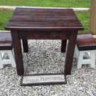 Rustic Farmhouse Kitchen Table & TWO Bar Stools Tiny House   Etsy