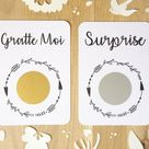 Customizable scratch card / For happy events /Pregnancy announcement / Wedding announcement / Origin