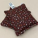 Handmade Lavender Sachet - Chocolate Sprinkles Fabric Lavender Bag - Lavender Cushion - Scent Bags - Aromatic - well-being -  100% natural.