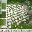 Grass and Stone Terrains by Pralinesims