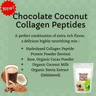 Chocolate Coconut Collagen Peptides - Hydrolyzed Anti-Aging Protein Powder - Perfect blend of Organic Chocolate, Coconut - A True Superfood