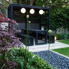 Pergola earth designs modern garden solid wood   homify