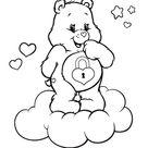 classic care bears color sheets secret bear