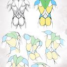 simplified anatomy 02 - male back by mamoonart on DeviantArt