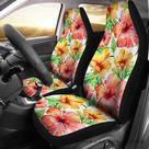 Hawaii Tropical Hibiscus Palm Leaf Car Seat Covers W8 215515