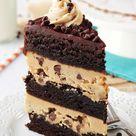 Peanut Butter Cookie Dough Brownie Layer Cake | Ultimate Cake Recipe