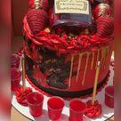 Hennessy Birthday Celebration Drip Cake