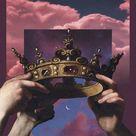Aethetic iPhone wallpaper 👑                                                                               #aesthetic #wallpaper #iphone #purple #crown #hands #sky #aestheticwallpaper #aestheticvintage #freetoedit