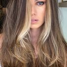 37 Brown Hair Colour Ideas And Hairstyles : Golden front