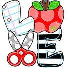 TEMPLATE: teacher door hanger template, teacher love door hanger template, classroom door hanger template, apple door hanger template