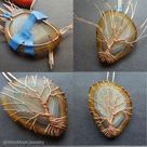 Handmade fine wire jewelry using natural by WireMoonJewelry