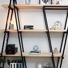 D.I.Y. industrial wooden bookshelf