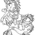 Carousel Coloring Pages Sketch Coloring Page