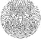 Coloring Page owl mandala