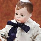 Home At Last - Antique Doll and Dollhouses:                       251  Rare German Bisque Toddler,137,by with Sculpted Brown Hair,by Mystery Maker