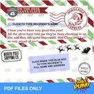 Letter from Santa, Envelope from Santa, Santa letter PDF, Christmas letter PDF
