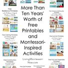 More Than Ten Years' Worth of Free Printables and Montessori-Inspired Activities