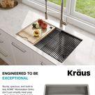 Kraus KWU110-30 Kore Kitchen Single Bowl Workstation Sink