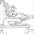 Donald In a Bathtub coloring page | Free Printable Coloring Pages