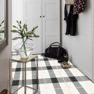 Tile Decals - Tiles for Kitchen/Bathroom Back splash - Floor decals - Vichy Tile Sticker Pack in Black