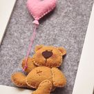 Teddy Bear, nursery decor, baby nursery, child room decor, framed teddy, 3d picture, baby shower gift, ready to hang, baby girl boy gift