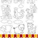 Farm Animal Printable Colouring Pages