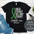 Gallbladder Cancer Awareness Shirt / Hoodie / Sweatshirt / Tank Top, Her Fight Is My Fight, Gallblad