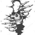 Der menschliche Schädel durchquert das Loch Stock-Vektorgrafik (Lizenzfrei) 1149255473