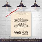 1962 BMW 1500 Patent Digital Download   Gift Idea For A Car Enthusiast   Antique Automobile Wall Decor   Instant Download