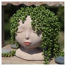 Female Head Face Planter Plant Pot Plants Planters Pots Eyeglass Holder Succulent Fern Flowers Girlfriend Wife Gift for Her Mom Mother's Day