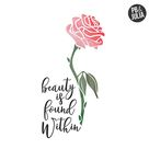 Disney Beauty & The Beast Print / Beauty is Found Within Print / Disney Gift / Belle Quote / Enchanted Rose / Nursery Decor / Wall Decor