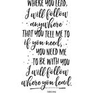 Printable Art Where You Lead I Will Follow Gilmore Girls   Etsy