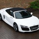 2013 Used Audi R8 V10 Spyder   Ibis White