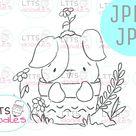 JPEG Puppy digi timbre-chien colorant page-jpg téléchargement | Etsy
