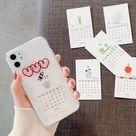Calendar Cards Heart Case - iPhone 11