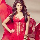 priyanka hot pics in red dress