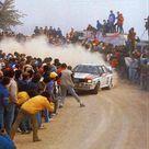 Audi Quattro of Hannu Mikkola at 1983 Rally Portugal